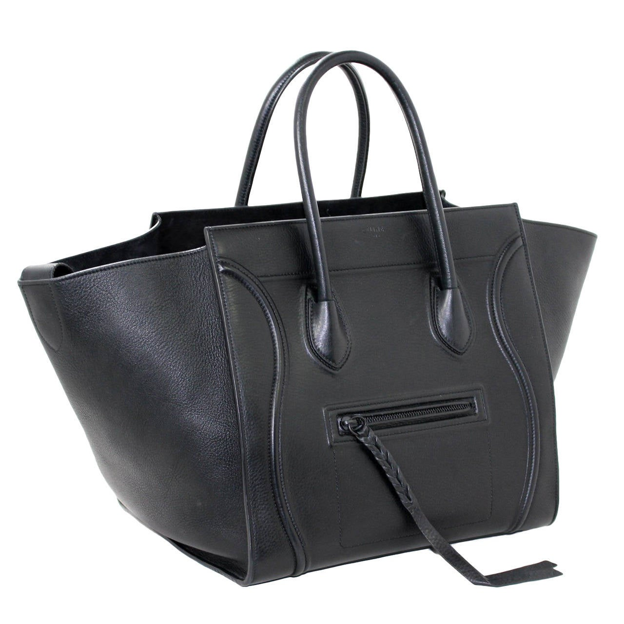 c eline replica - celine phantom medium black crocodile leather