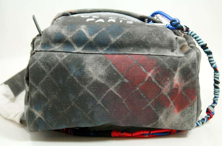 Chanel Small Black Graffiti Art School Backpack 3