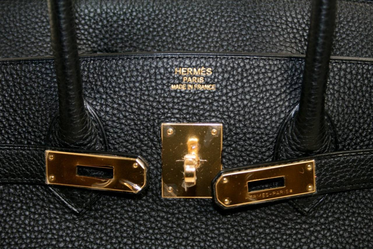 hermes birkin cost - Hermes Birkin Bag- Black Togo Leather, Gold Hardware 35 cm size at ...