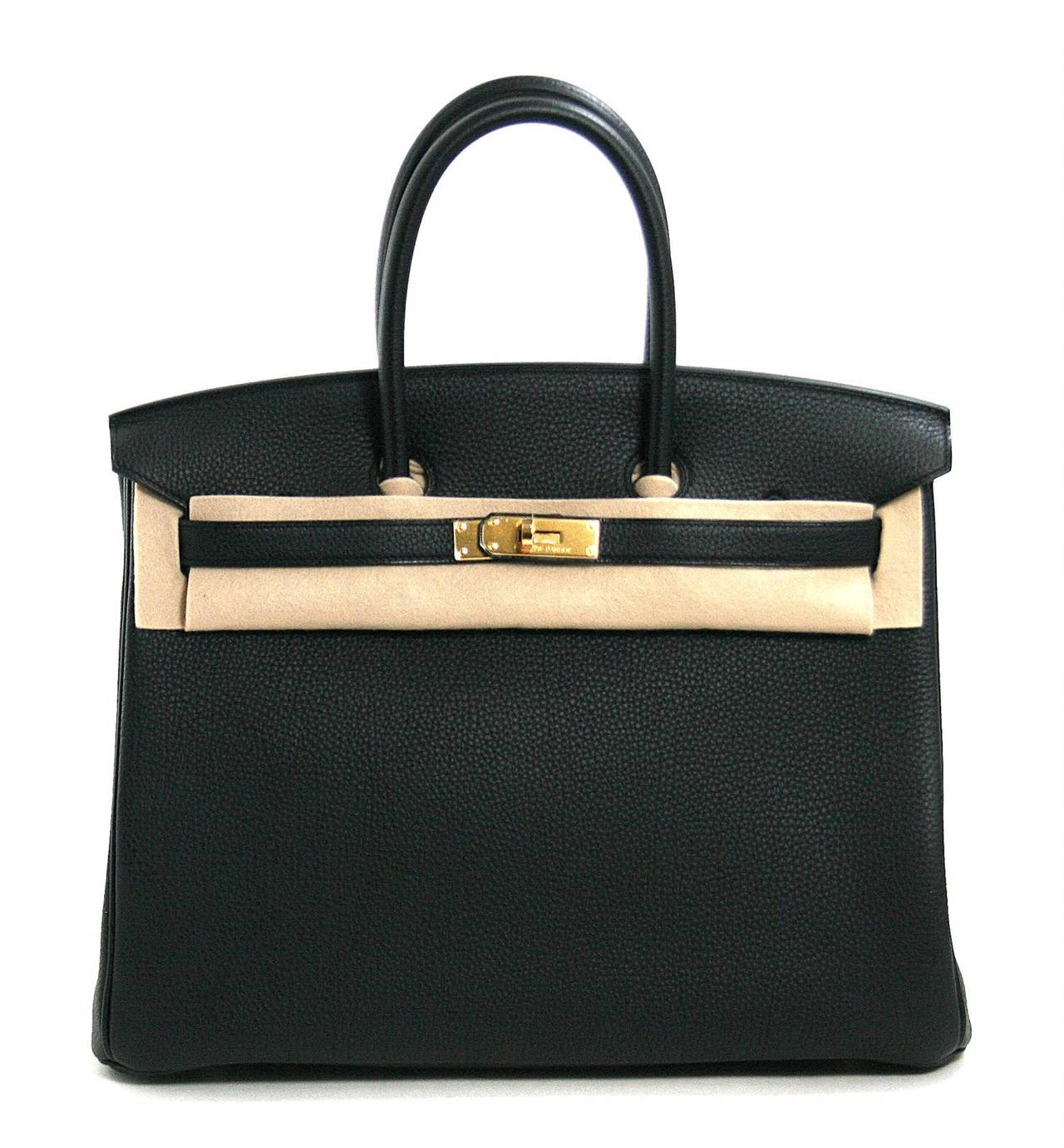 Hermes Birkin Bag- Black Togo Leather, Gold Hardware 35 cm size at ...