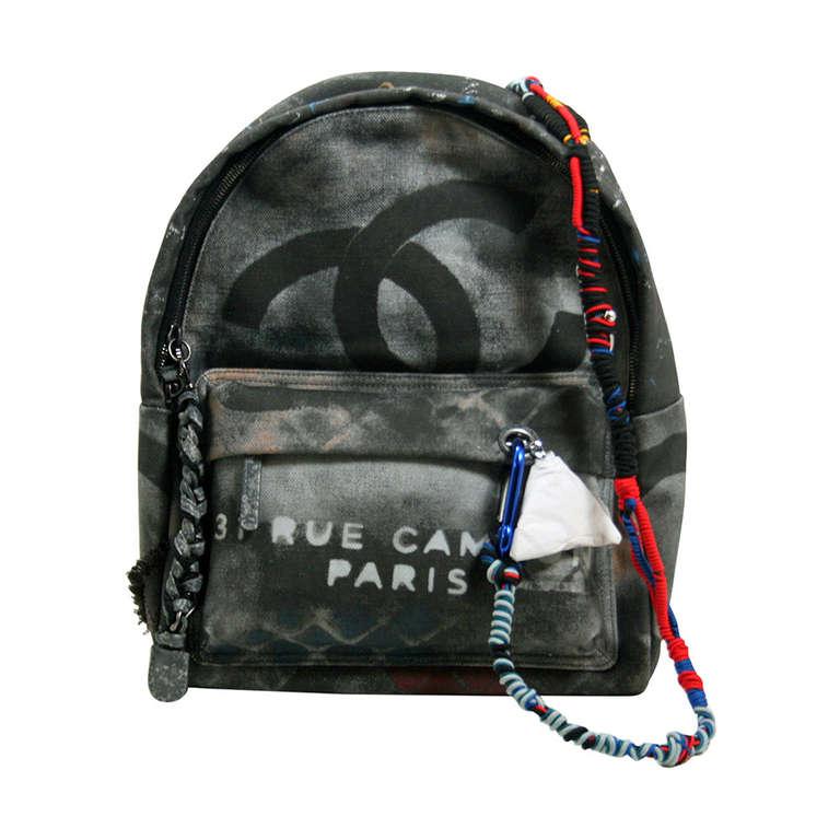 Chanel Small Black Graffiti Art School Backpack 1