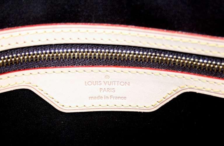 Louis Vuitton Amarante Vernis Brea MM Bag with Strap 9