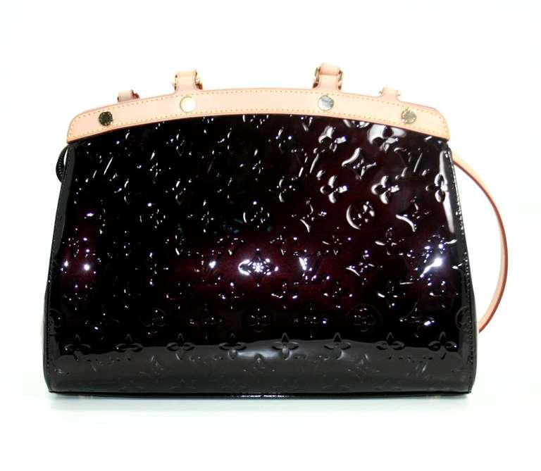 Louis Vuitton Amarante Vernis Brea MM Bag with Strap 2