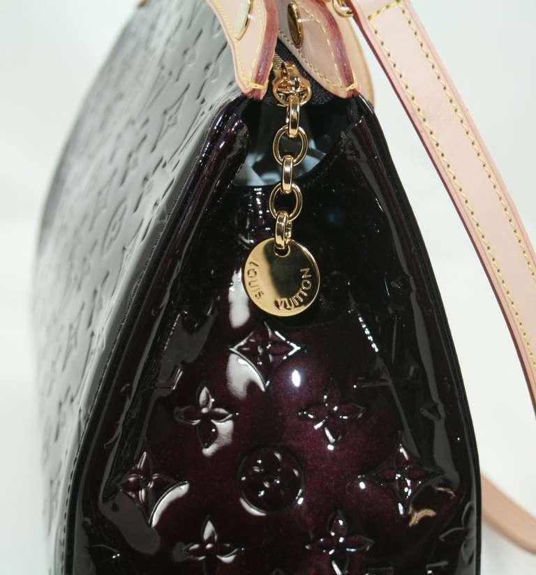Louis Vuitton Amarante Vernis Brea MM Bag with Strap 4