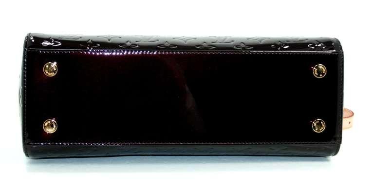 Louis Vuitton Amarante Vernis Brea MM Bag with Strap 5