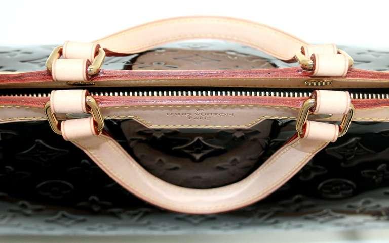 Louis Vuitton Amarante Vernis Brea MM Bag with Strap 7