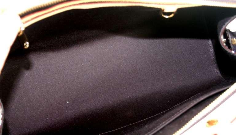 Louis Vuitton Amarante Vernis Brea MM Bag with Strap 8