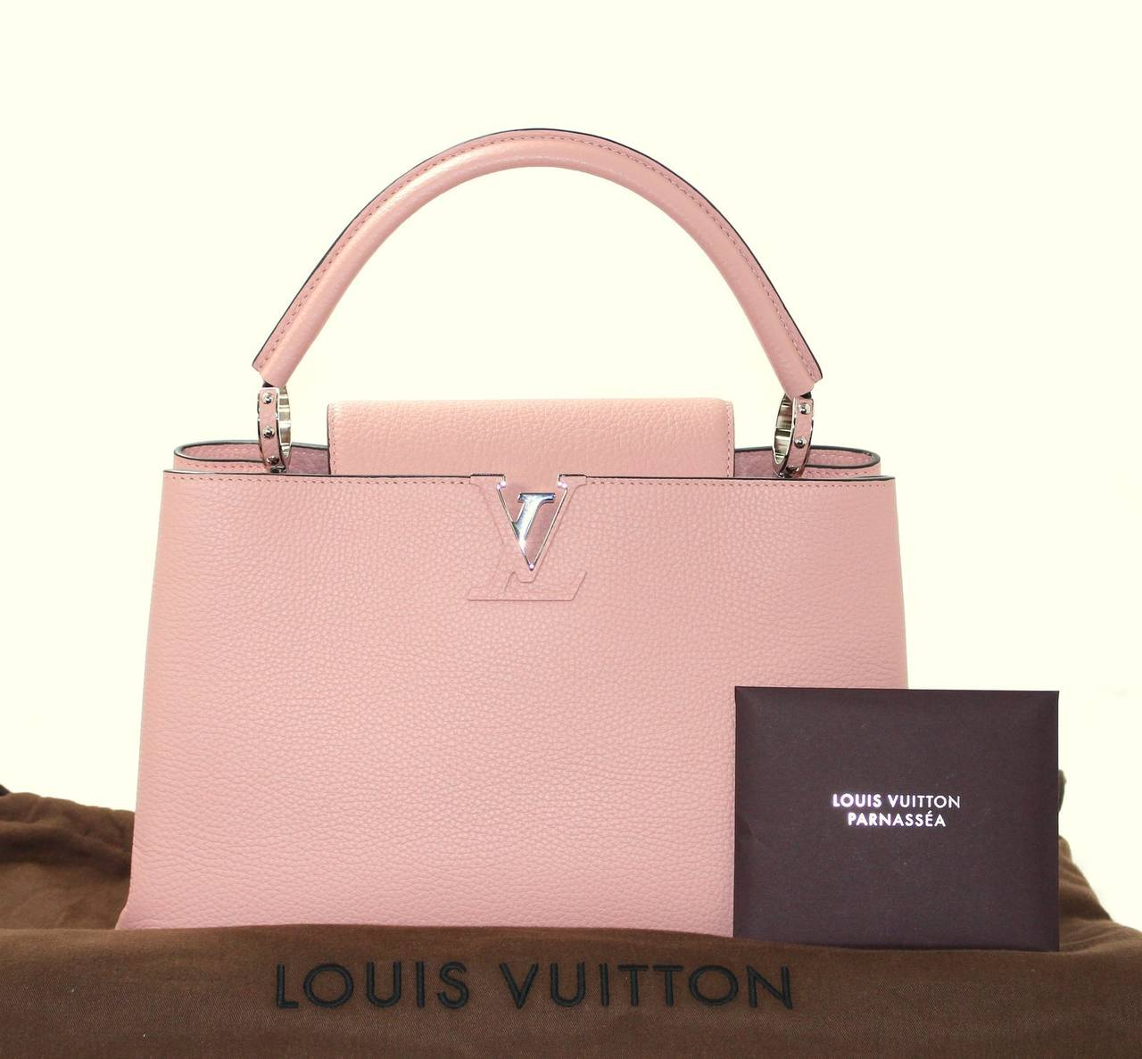 Louis Vuitton  Magnolia Leather Capucines MM Bag- PINK color 10