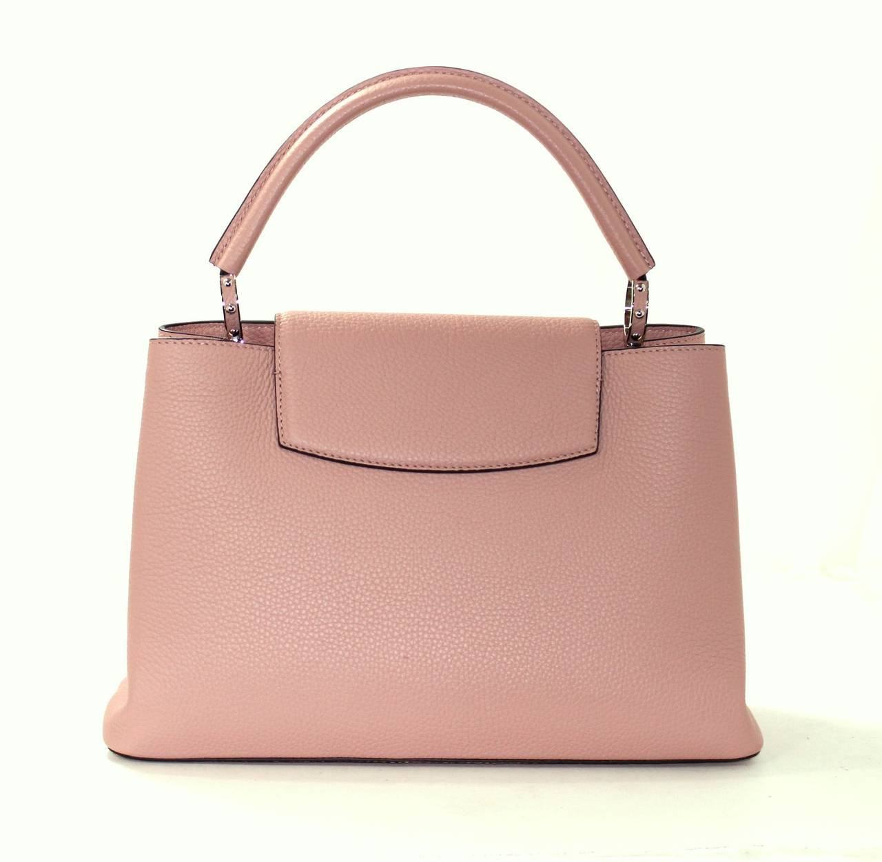 Louis Vuitton  Magnolia Leather Capucines MM Bag- PINK color 3