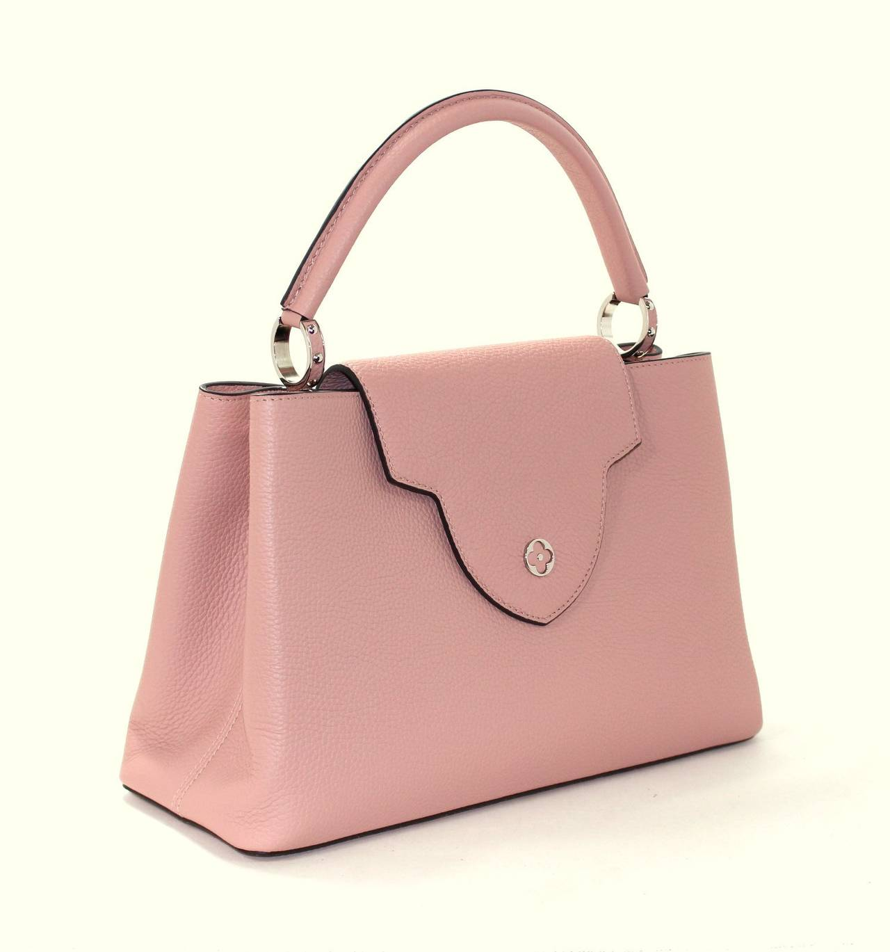 Louis Vuitton  Magnolia Leather Capucines MM Bag- PINK color 2