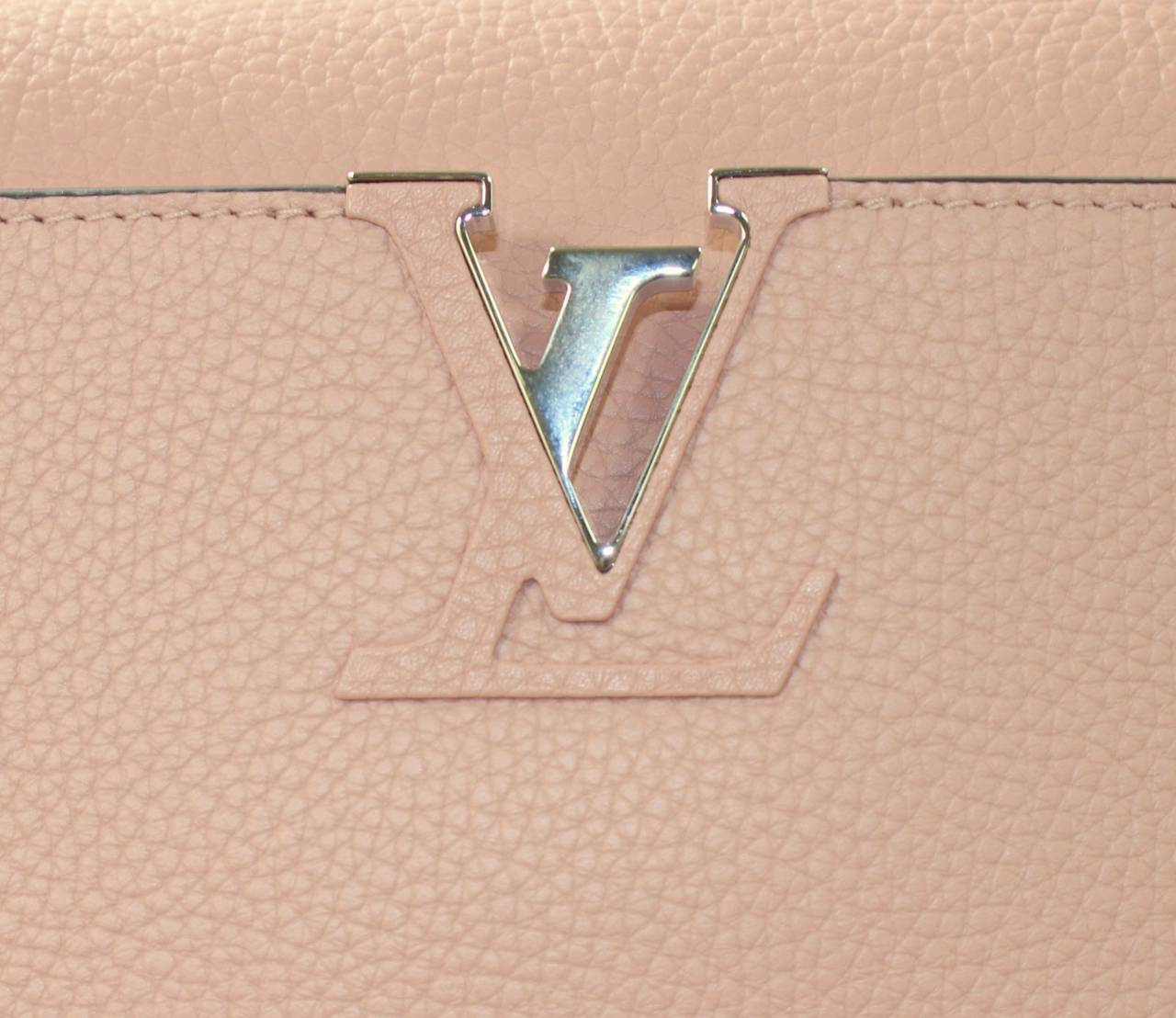 Louis Vuitton  Magnolia Leather Capucines MM Bag- PINK color 4
