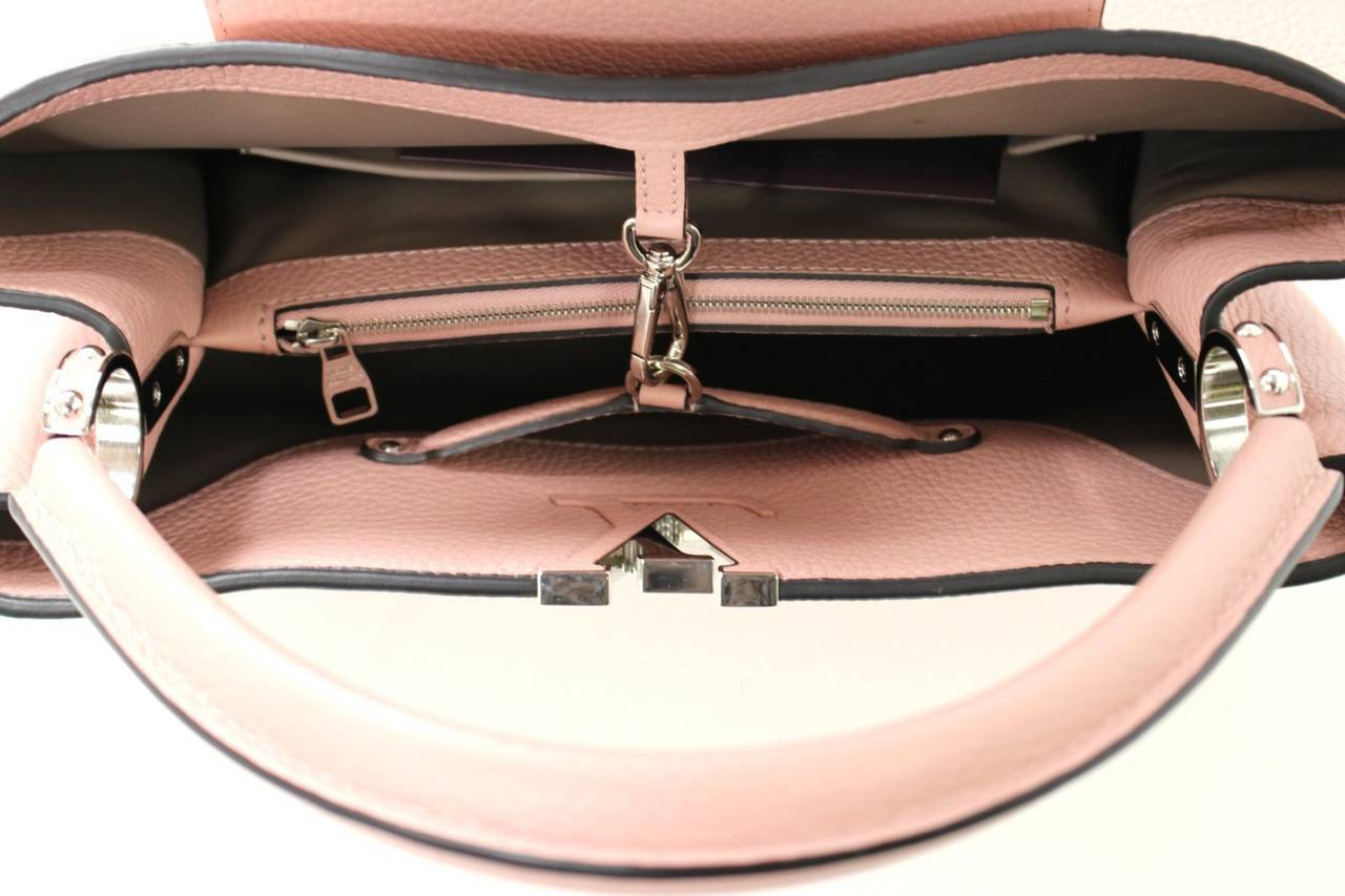 Louis Vuitton  Magnolia Leather Capucines MM Bag- PINK color 6