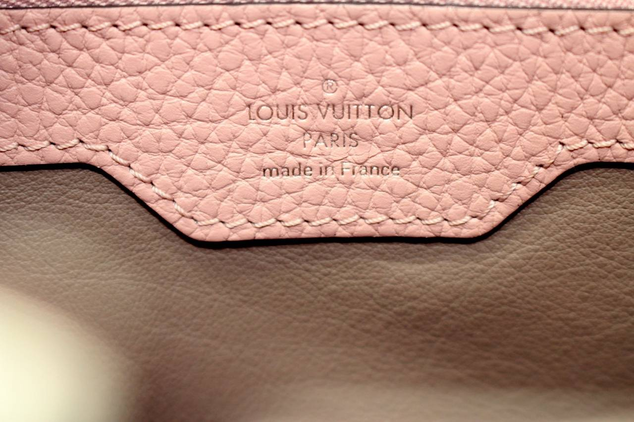 Louis Vuitton  Magnolia Leather Capucines MM Bag- PINK color 7