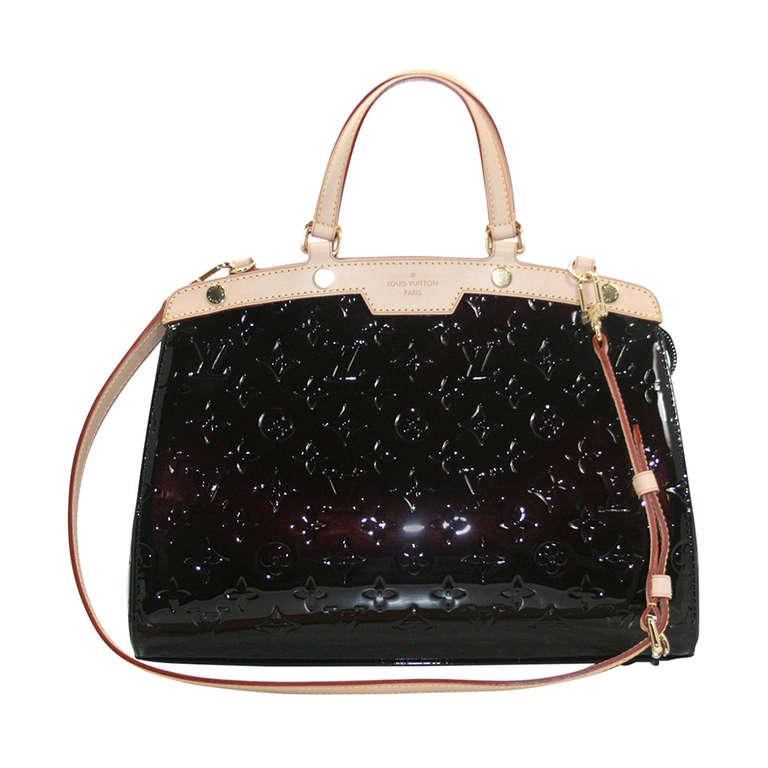 Louis Vuitton Amarante Vernis Brea MM Bag with Strap 1