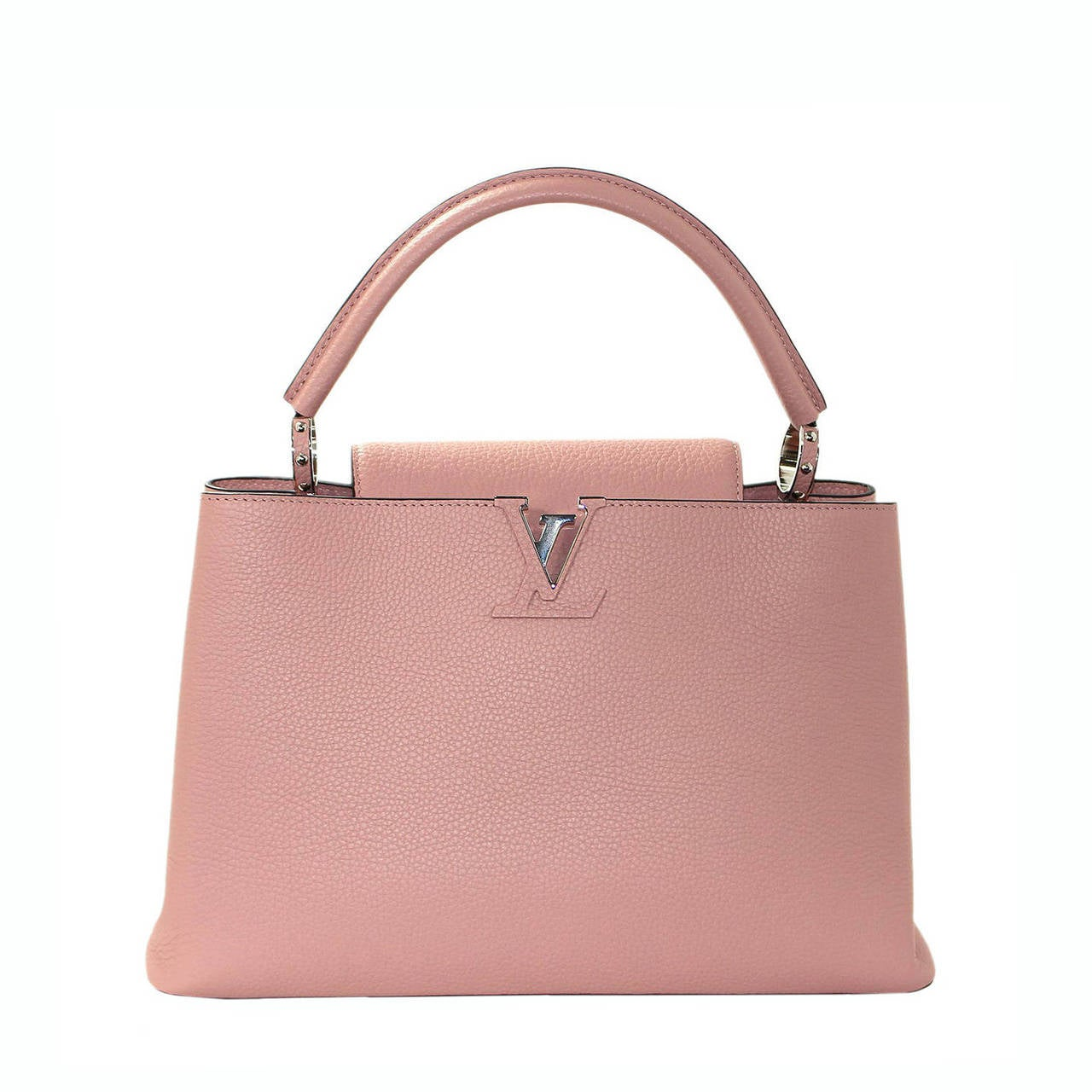 Louis Vuitton  Magnolia Leather Capucines MM Bag- PINK color 1