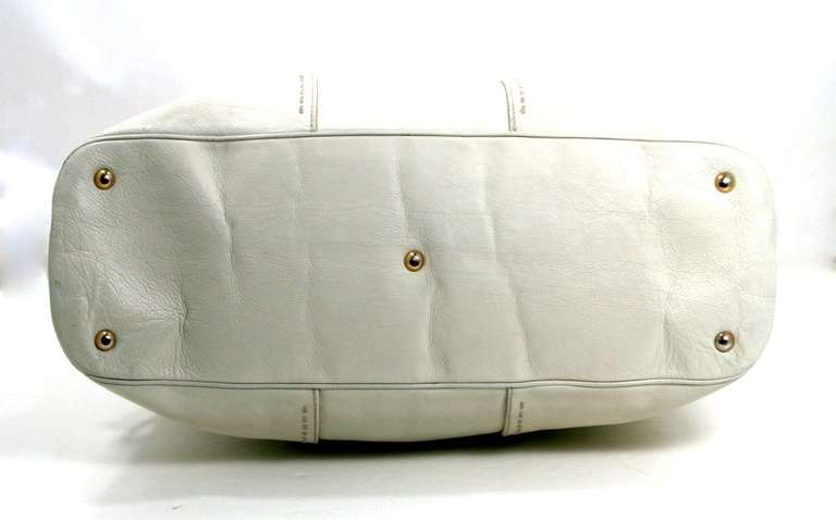 YSL White Leather XL Muse Bag at 1stdibs