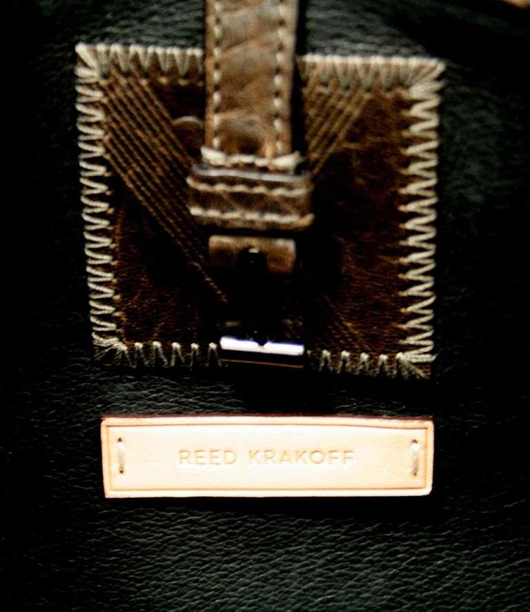 Reed Krakoff Dark Brown Leather Unisex Bag 6