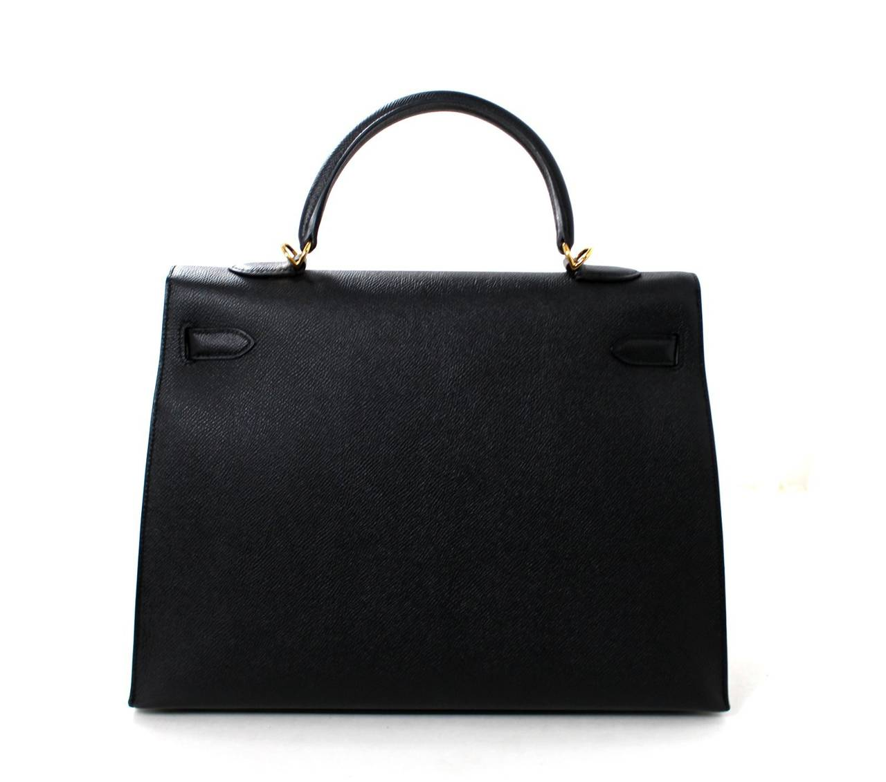 Hermes Black Kelly Sellier- Epsom Leather GHW  in 35 cm size 3