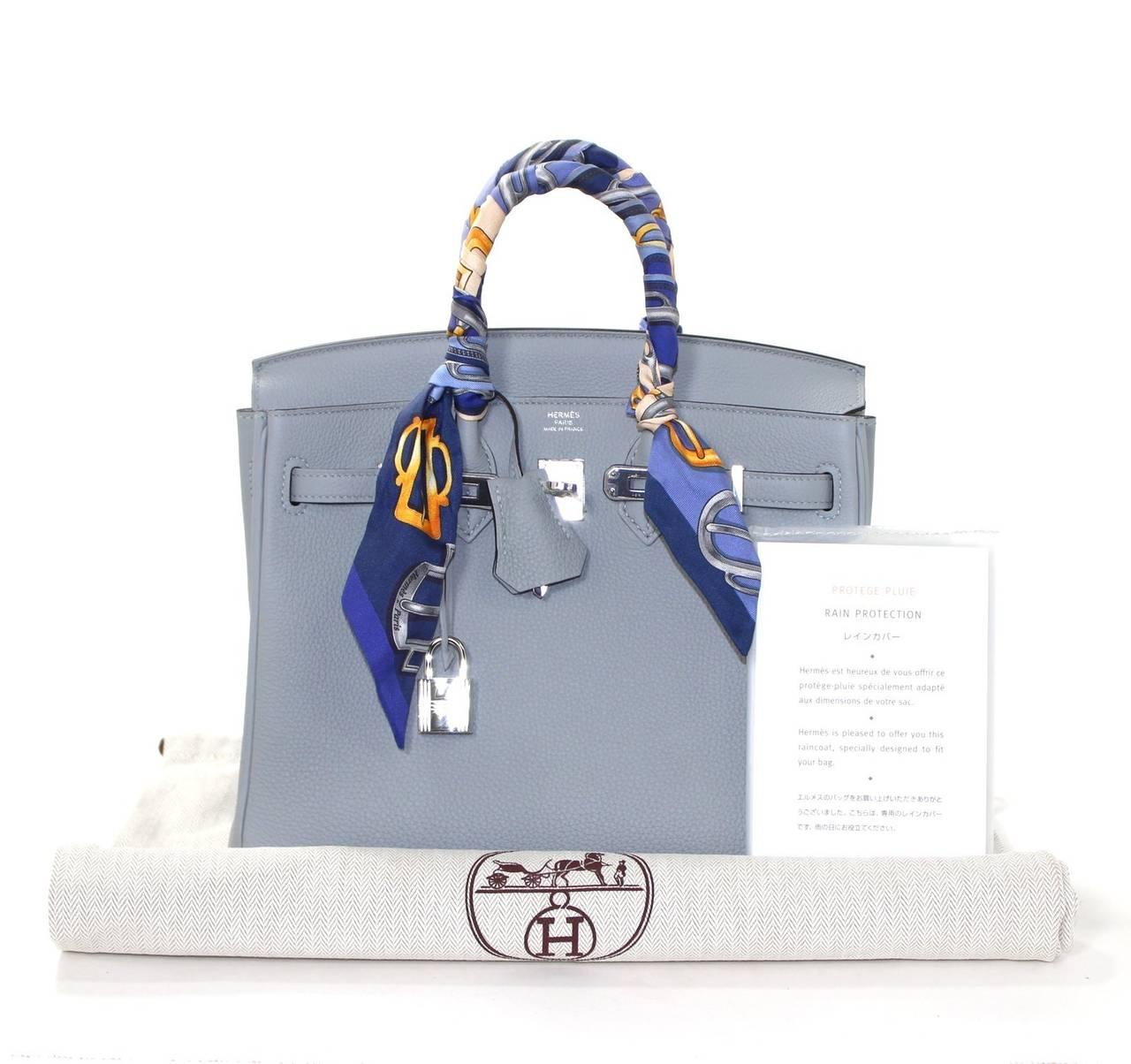 green birkin bag - Hermes Glacier Blue Togo 25 cm Birkin Bag- New Color at 1stdibs