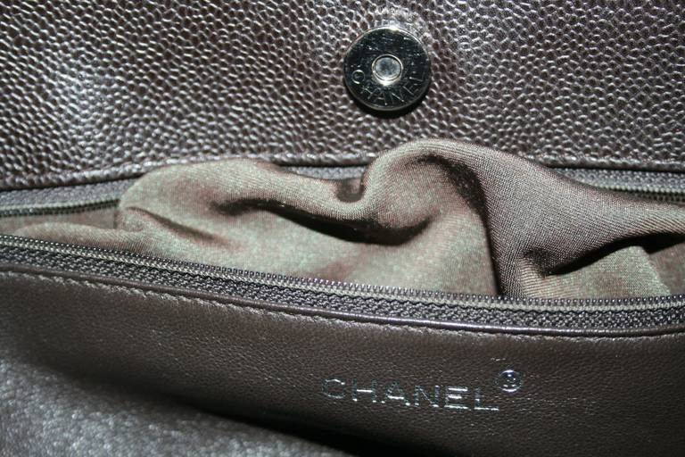 Chanel Brown Caviar Leather Vintage Tote Bag 8