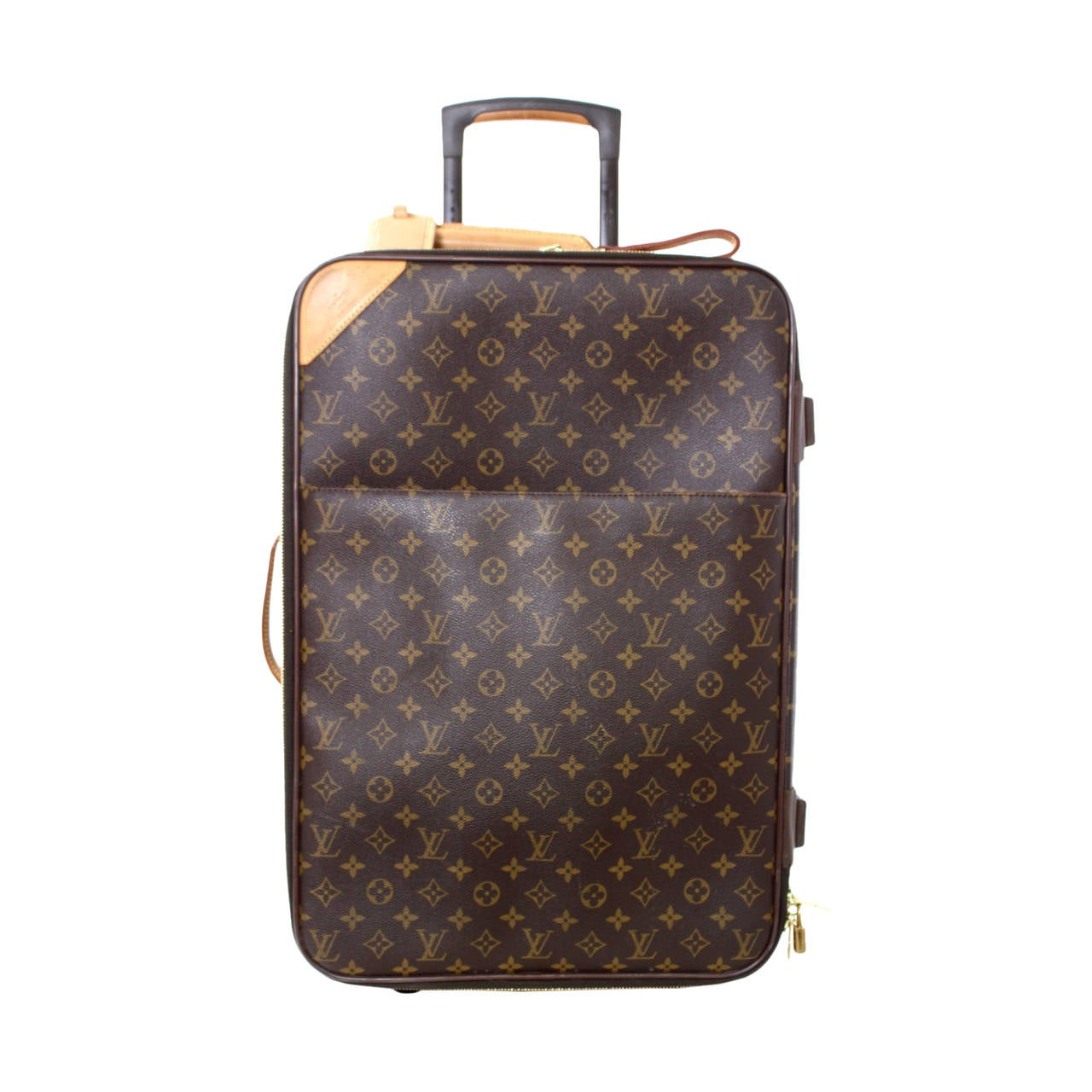 louis vuitton monogram canvas travel rolling trolley luggage 55 at 1stdibs. Black Bedroom Furniture Sets. Home Design Ideas