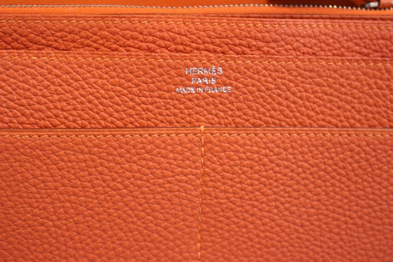 hermes blue electric togo dogon duo wallet