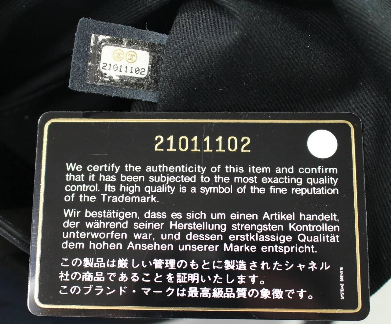 Chanel Oser Sans Poser Black Leather Cross Body Shoulder