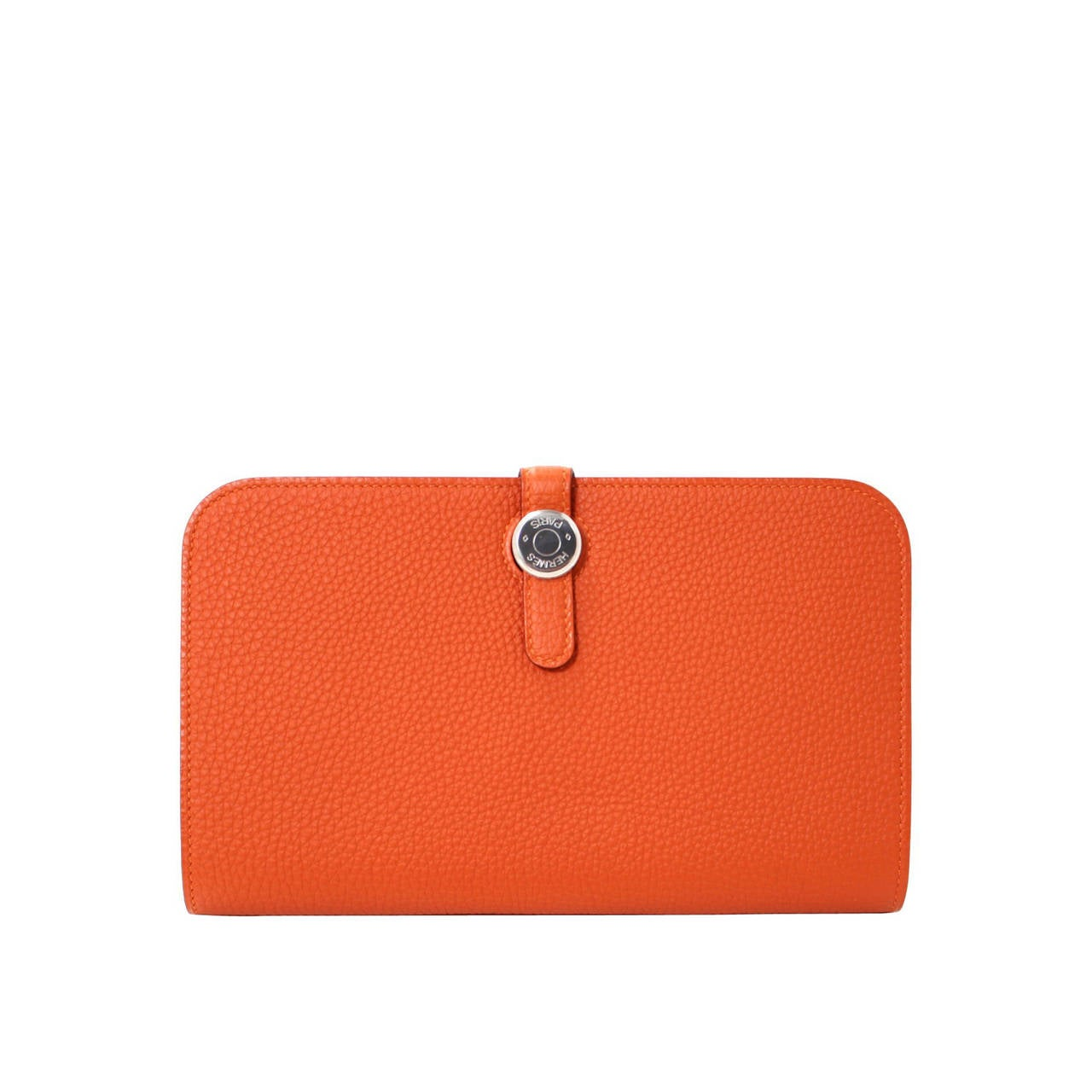 Hermes Orange Duo Wallet Togo With Phw At 1stdibs