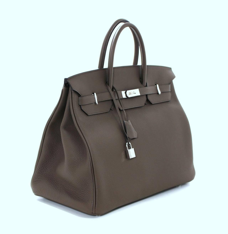 Hermes 40 cm Taupe Togo Birkin Bag with Palladium at 1stdibs