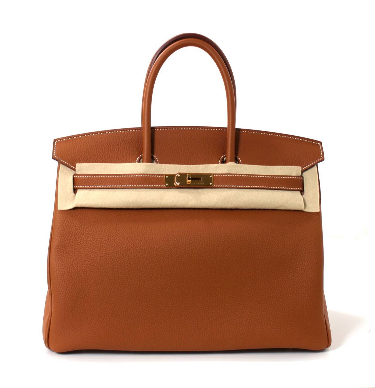 Hermes Classic Gold 35 cm Birkin Bag- Togo with GHW 9