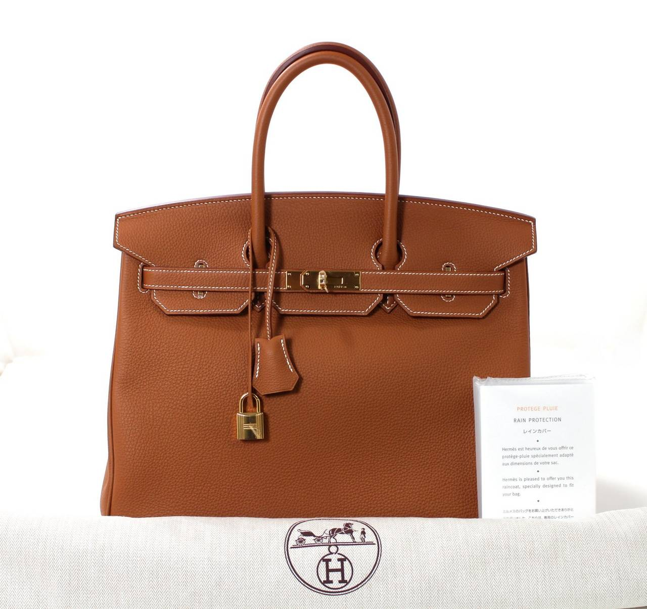 Hermes Classic Gold 35 cm Birkin Bag- Togo with GHW 10