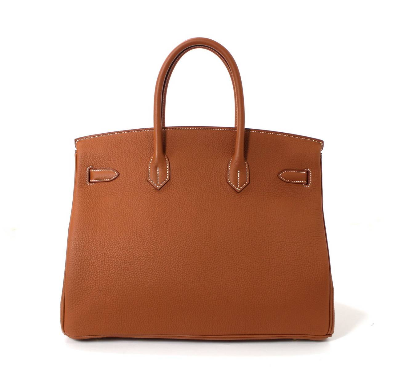 Hermes Classic Gold 35 cm Birkin Bag- Togo with GHW 2