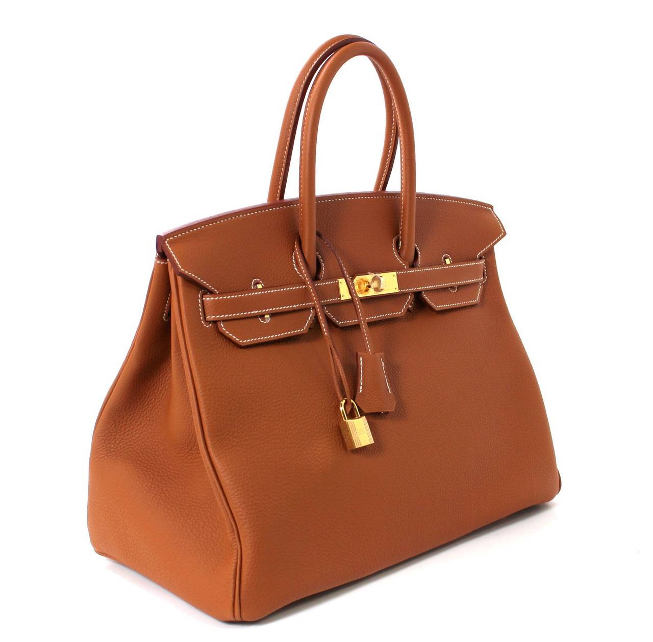 Hermes Classic Gold 35 cm Birkin Bag- Togo with GHW 3