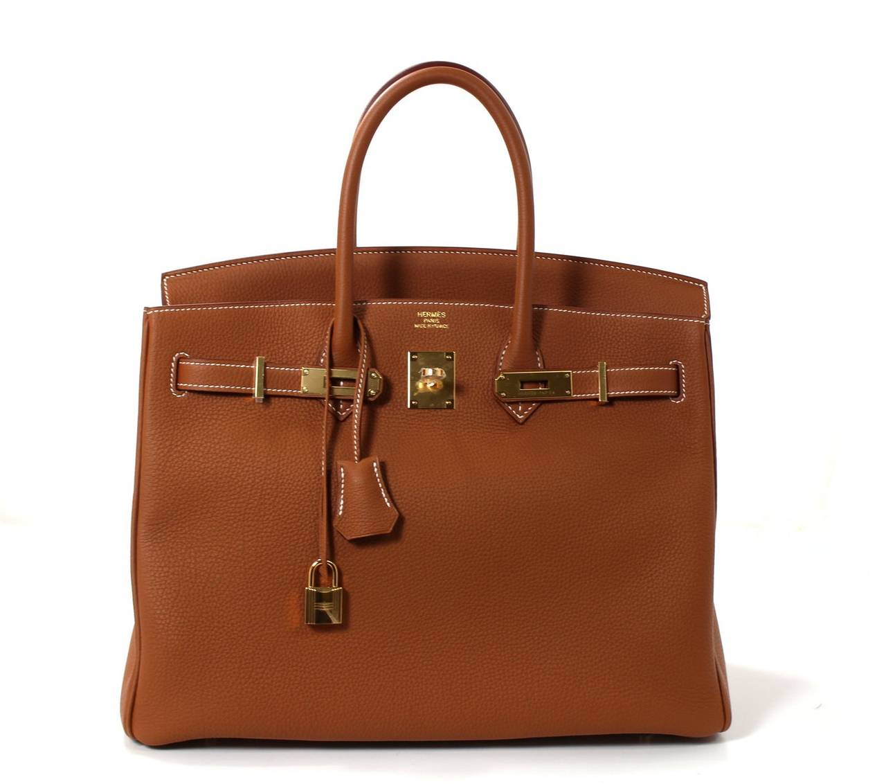 Hermes Classic Gold 35 cm Birkin Bag- Togo with GHW 7