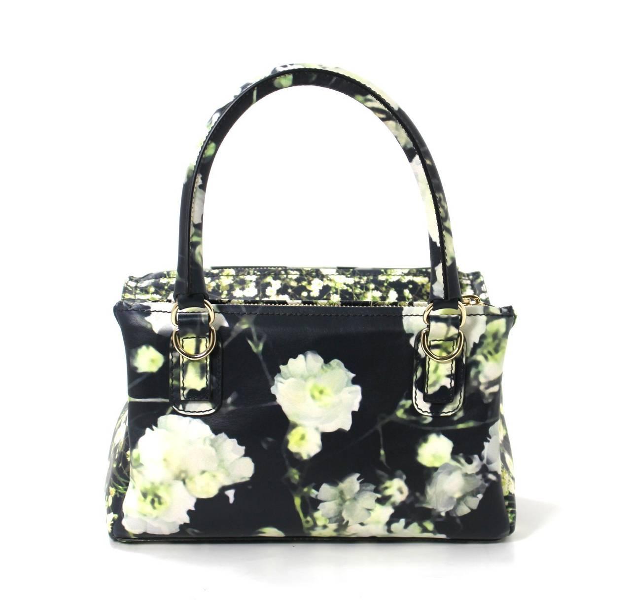 Givenchy Black Leather Babys Breath Pandora Messenger Bag 2