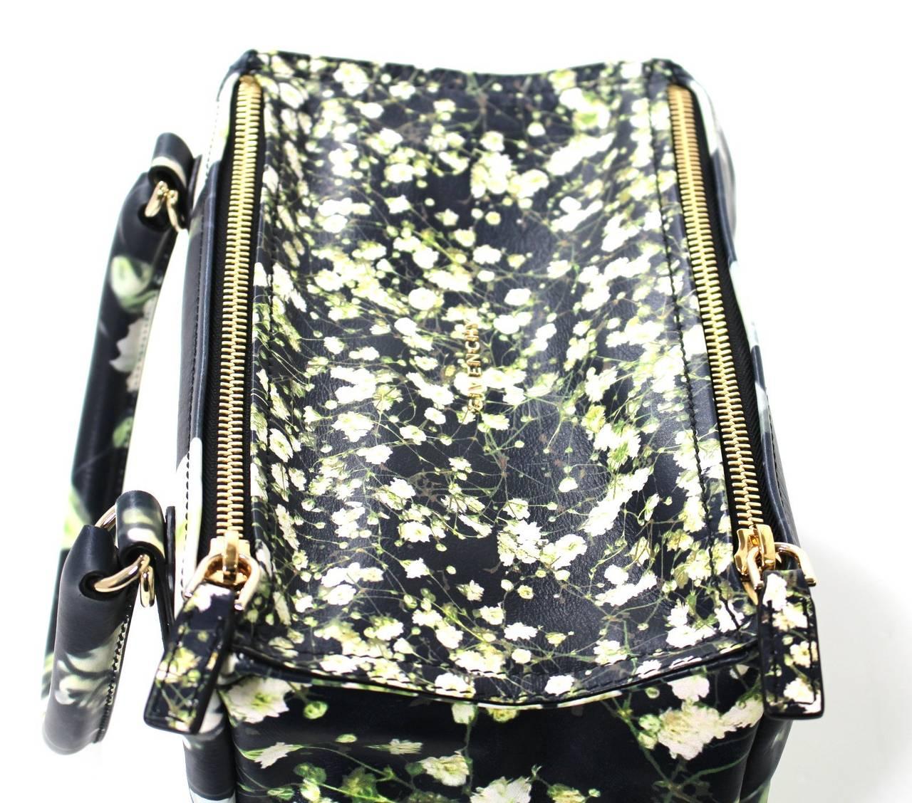 Givenchy Black Leather Babys Breath Pandora Messenger Bag 7
