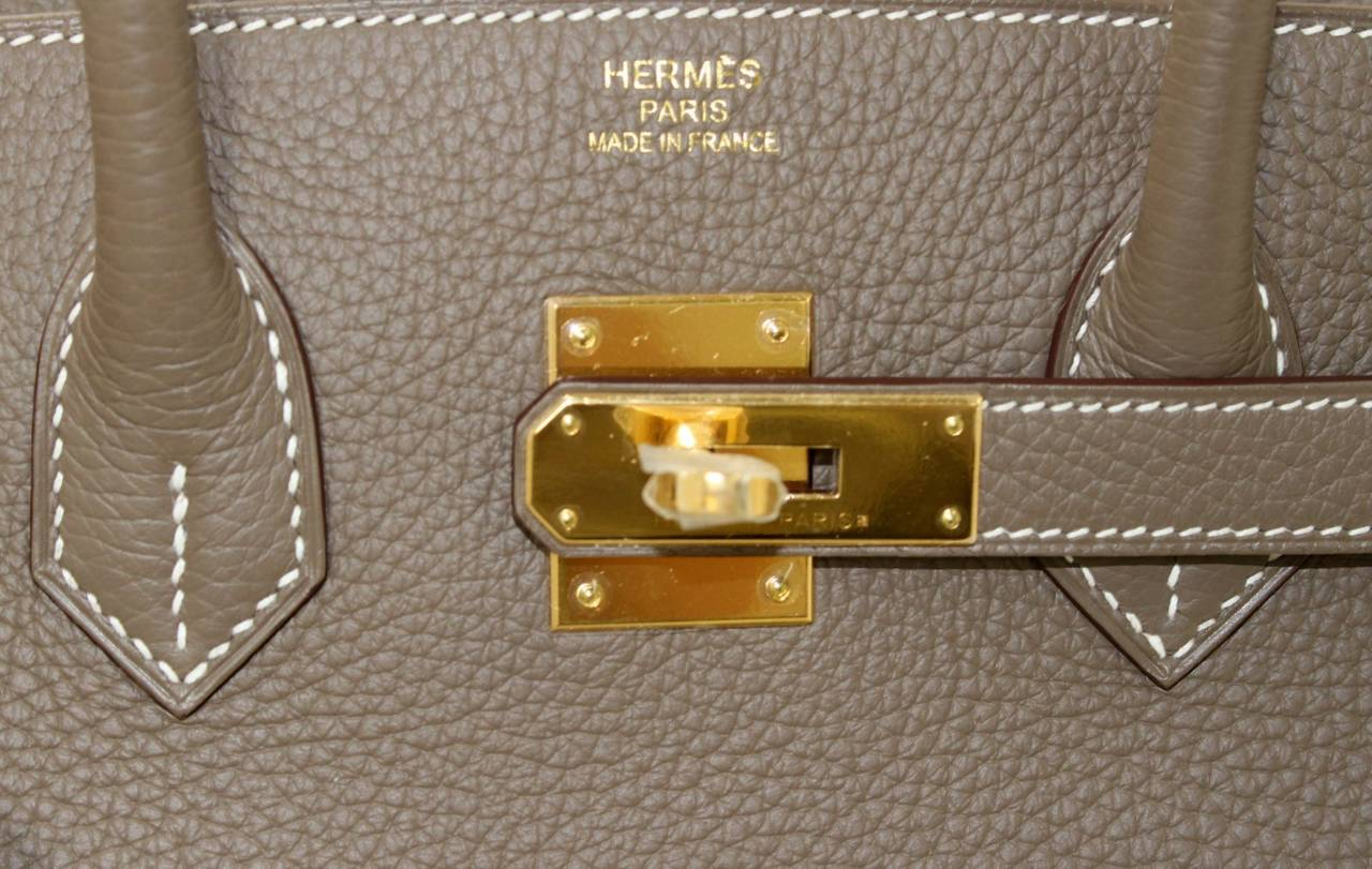 where to buy hermes handbags - Herm��s Etoupe Togo Leather Birkin Bag with Gold, 35 cm size at 1stdibs