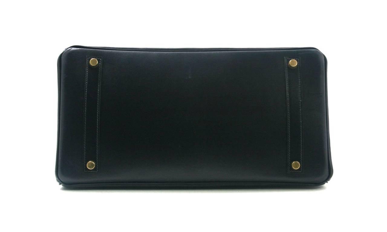 Hermes Birkin Box Calf Leather cm Indigo Box Calf Leather