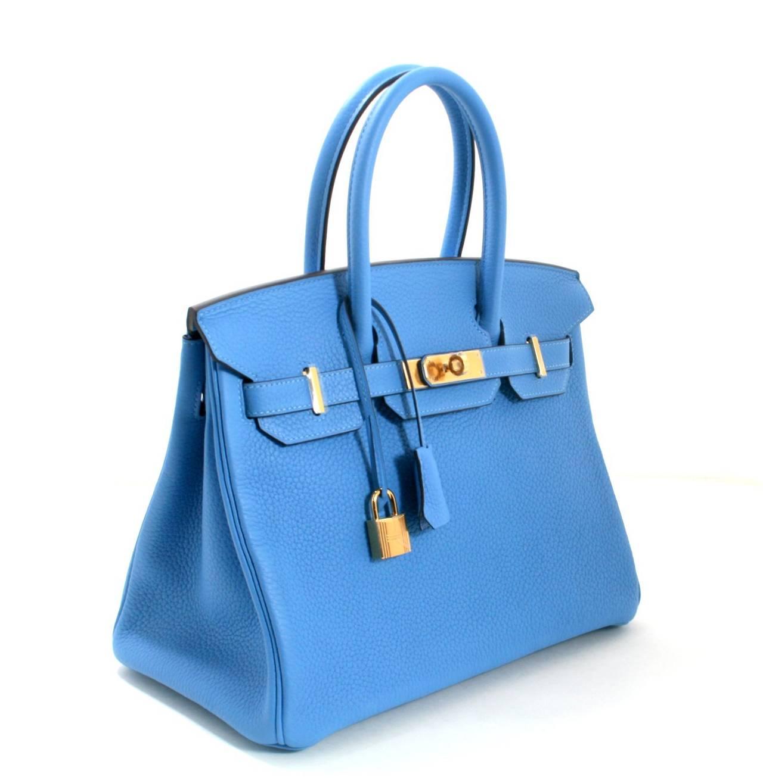 4277a905d6 hermes birkin bag 35cm bleu paradis clemence palladium hardware ...