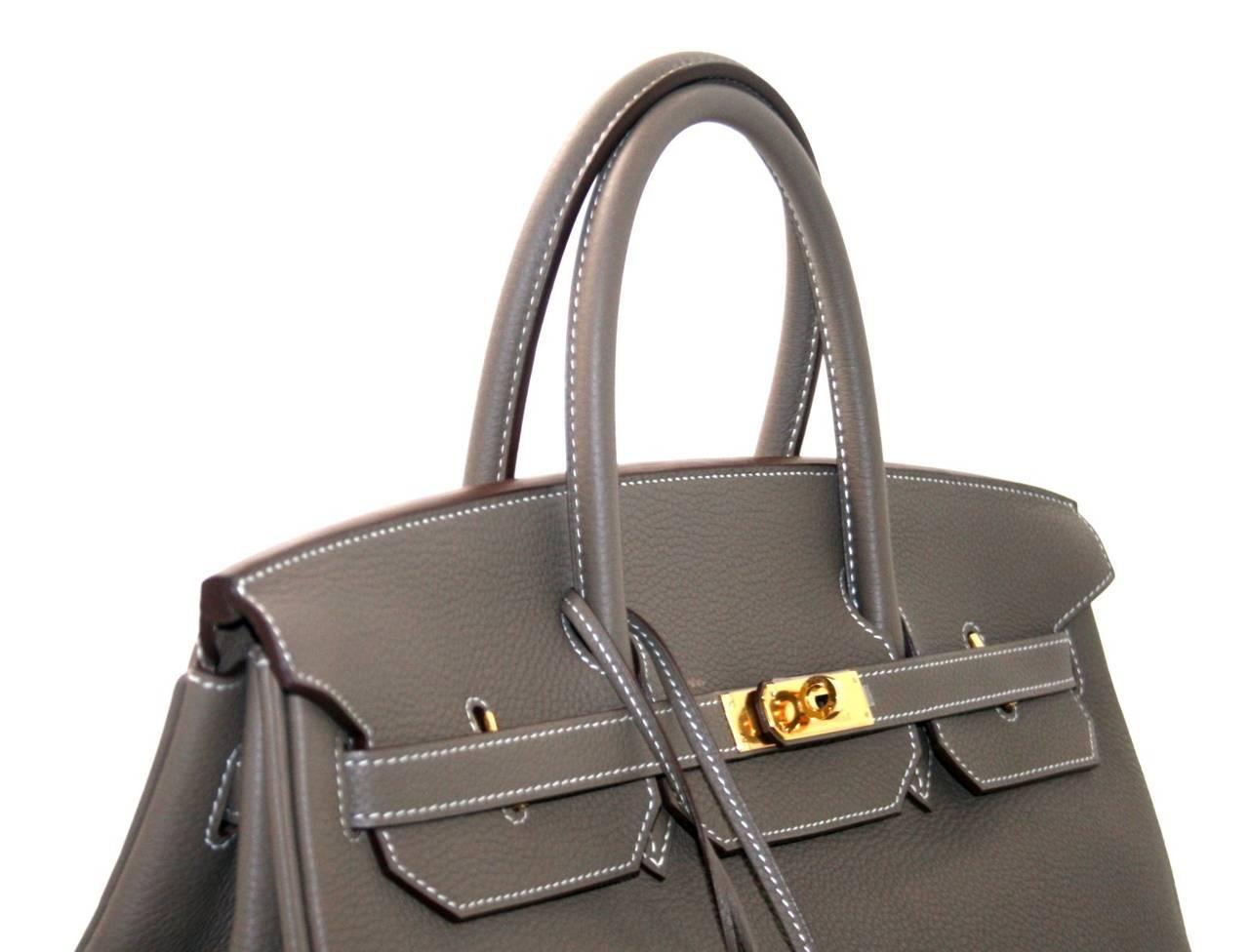 best hermes birkin color - Herm��s 40 cm Etoupe Togo Leather Birkin with Gold Hardware at 1stdibs
