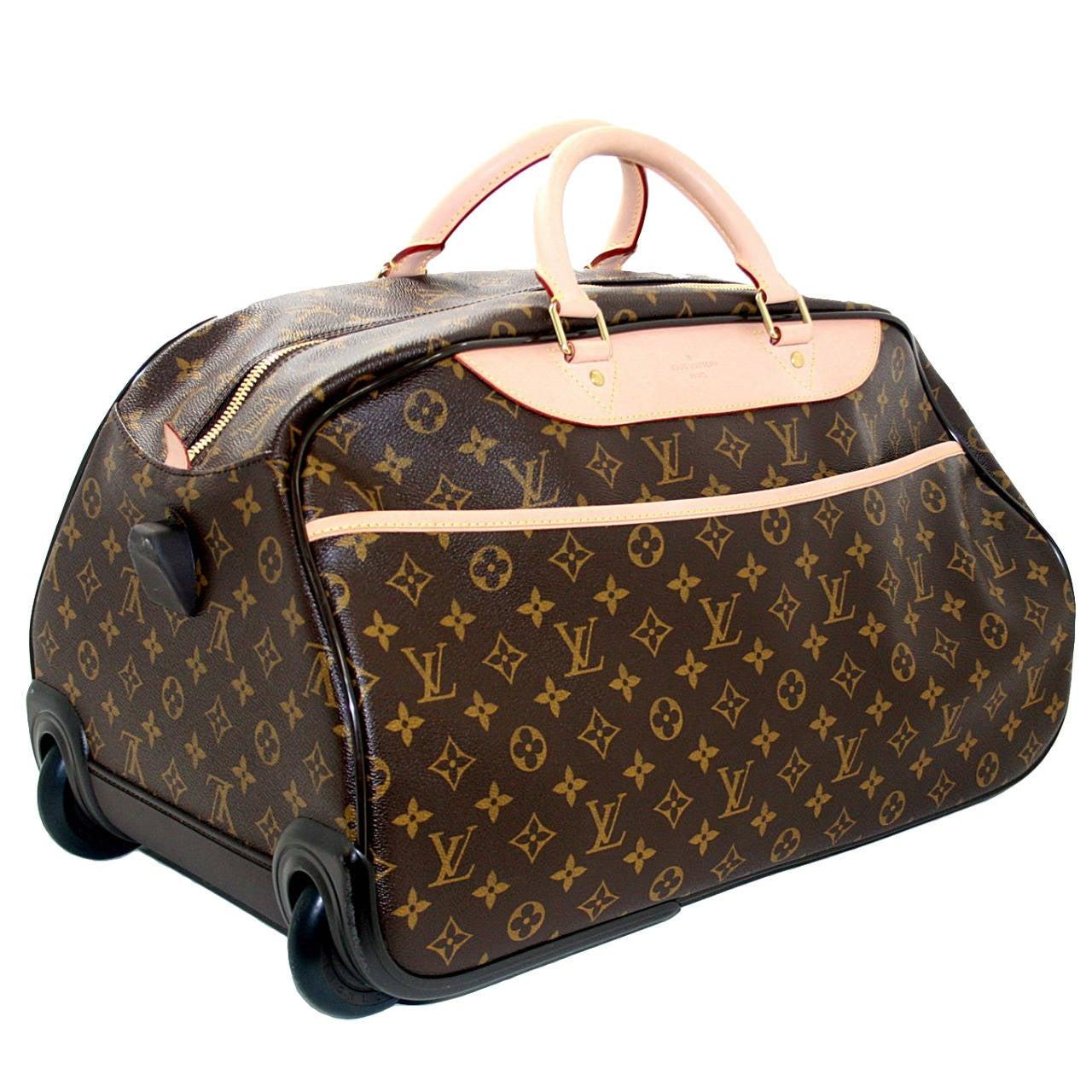 Louis Vuitton Monogram Eole 50 Rolling Travel Duffel Bag