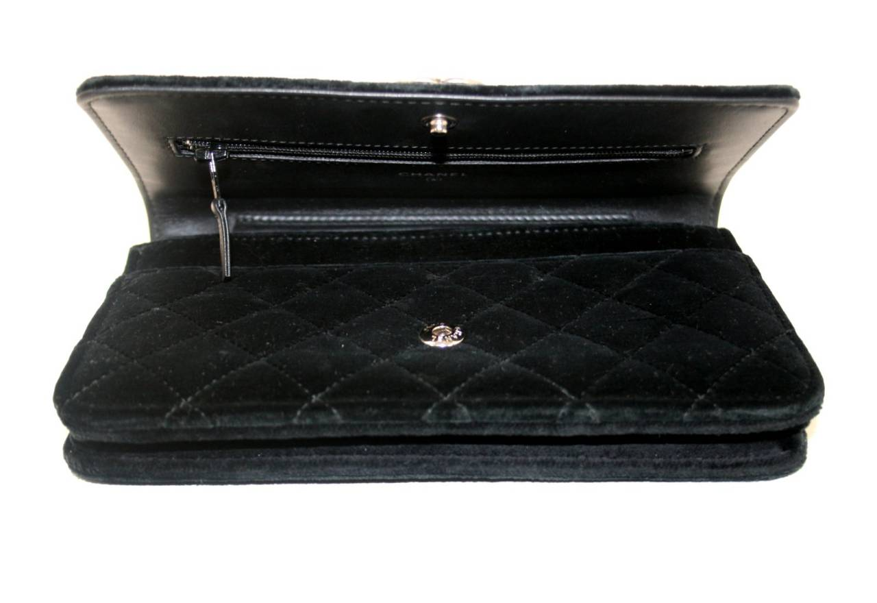 Chanel Black Velvet WOC Boy Bag Wallet on a Chain Ltd. Ed. 5