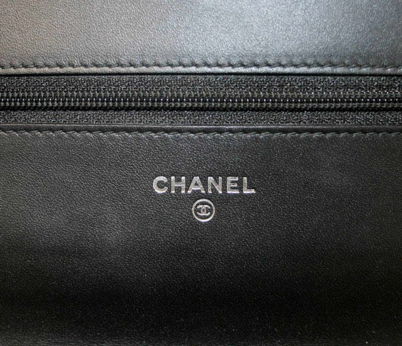 Chanel Black Velvet WOC Boy Bag Wallet on a Chain Ltd. Ed. 8