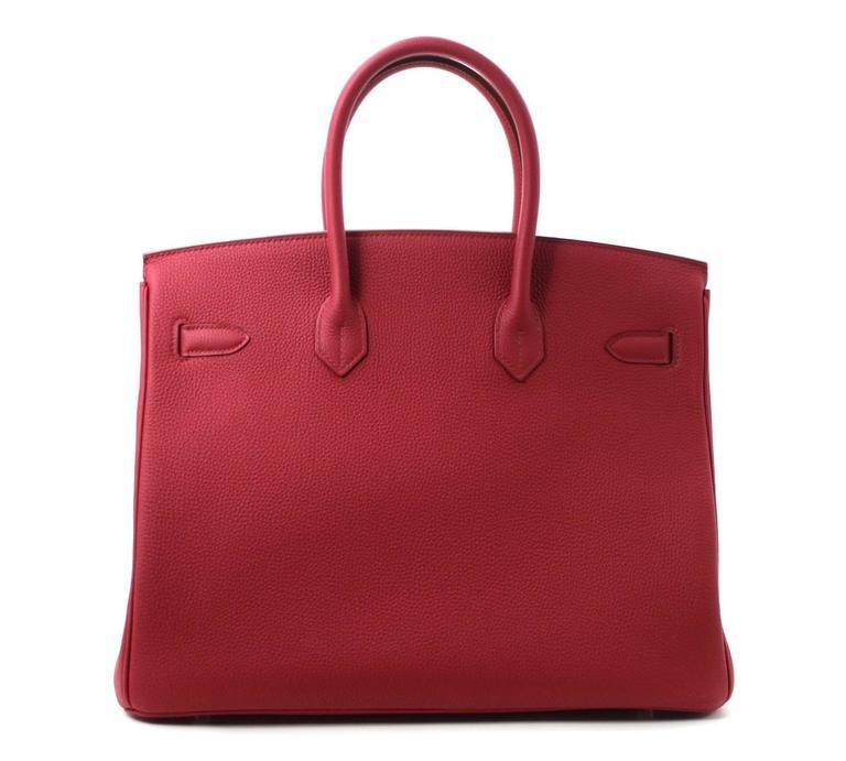 Hermès Rubis Togo Birkin Bag- 35 cm, PHW Ruby Red 2