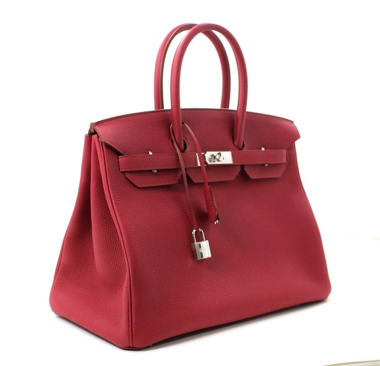 Hermès Rubis Togo Birkin Bag- 35 cm, PHW Ruby Red 3