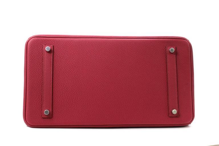 Hermès Rubis Togo Birkin Bag- 35 cm, PHW Ruby Red 4