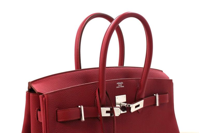 Hermès Rubis Togo Birkin Bag- 35 cm, PHW Ruby Red 5