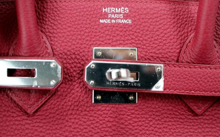 Hermès Rubis Togo Birkin Bag- 35 cm, PHW Ruby Red 6
