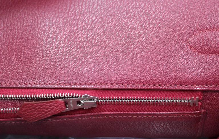 Hermès Rubis Togo Birkin Bag- 35 cm, PHW Ruby Red 7