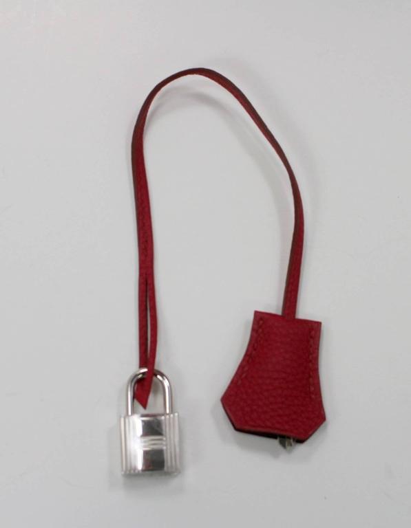 Hermès Rubis Togo Birkin Bag- 35 cm, PHW Ruby Red 8